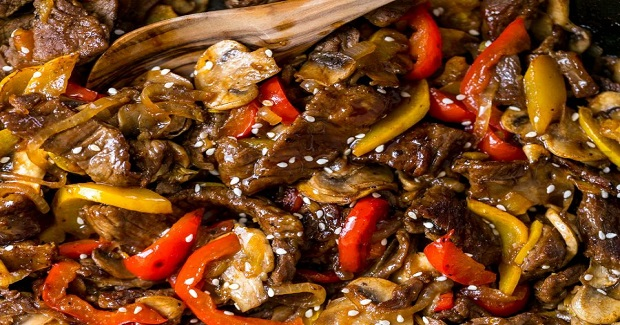 Print Beef Stir-Fry Recipe With 3 Ingredient Sauce Recipe