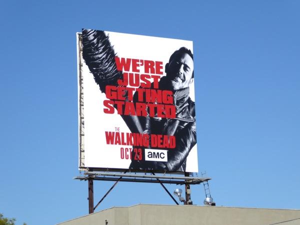 Walking Dead season 7 We're just getting started billboard