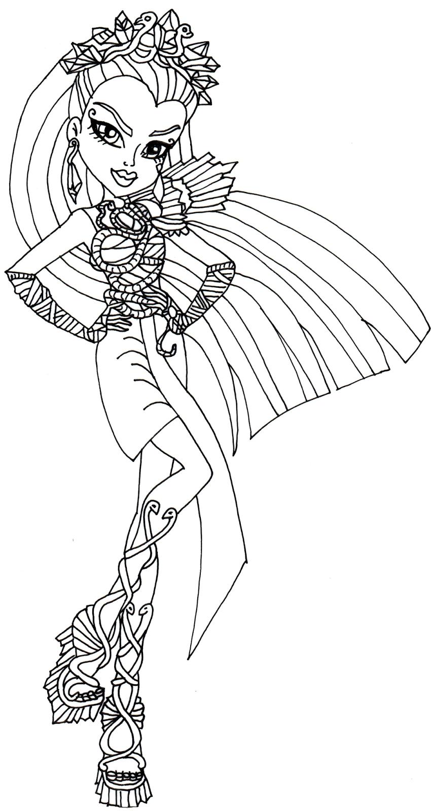 Nefera De Nile Boo York Monster High Coloring Page