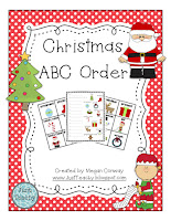 Christmas ABC Order,  www.JustTeachy.com
