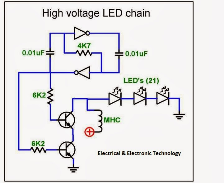 High voltage series LED driver circuit | Electrical ... on