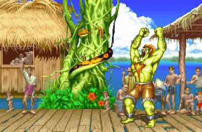 Blanka nel suo stage di ''Street Fighter II''