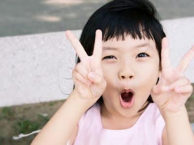 japonesa feliz
