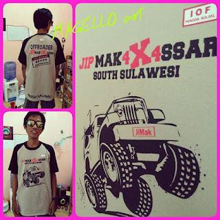 """Sablon Baju Kaos """"Komunitas JIP Makassar (JiMak)"""""""
