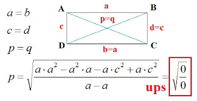 Diagonals of rectangle. Mathematics For Blondes.