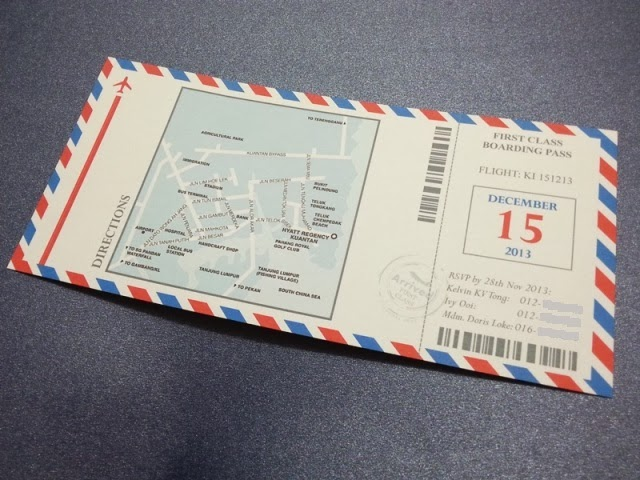 par avion envelope, wedding card, invitation, pahang, hyatt hotel, kuantan, chinese