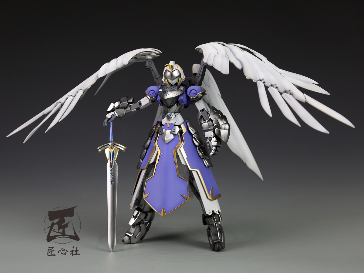 custom build mg 1100 saber fate stay night wing