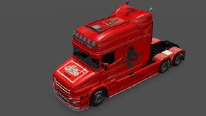 Scania T Make Music Not War Skin by LazyMods