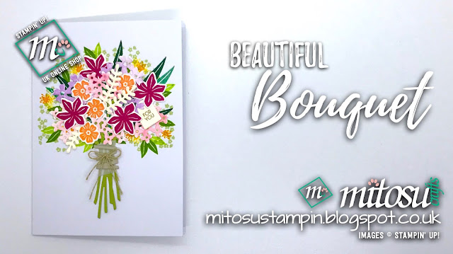 Stampin' Up! Beautiful Bouquet SU Card Idea order craft products from Mitosu Crafts UK Online Shop