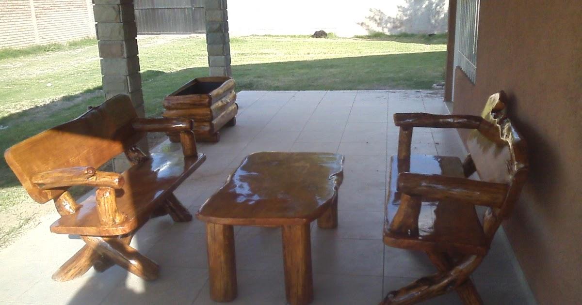 ARTE RUSTIKA  Muebles Rusticos Artesanales JUEGOS DE JARDIN
