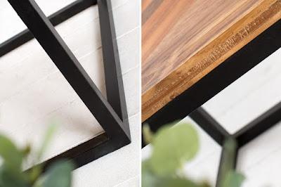designový nábytek Reaction, industriální nábytek, nábytek ze dřeva a kovu