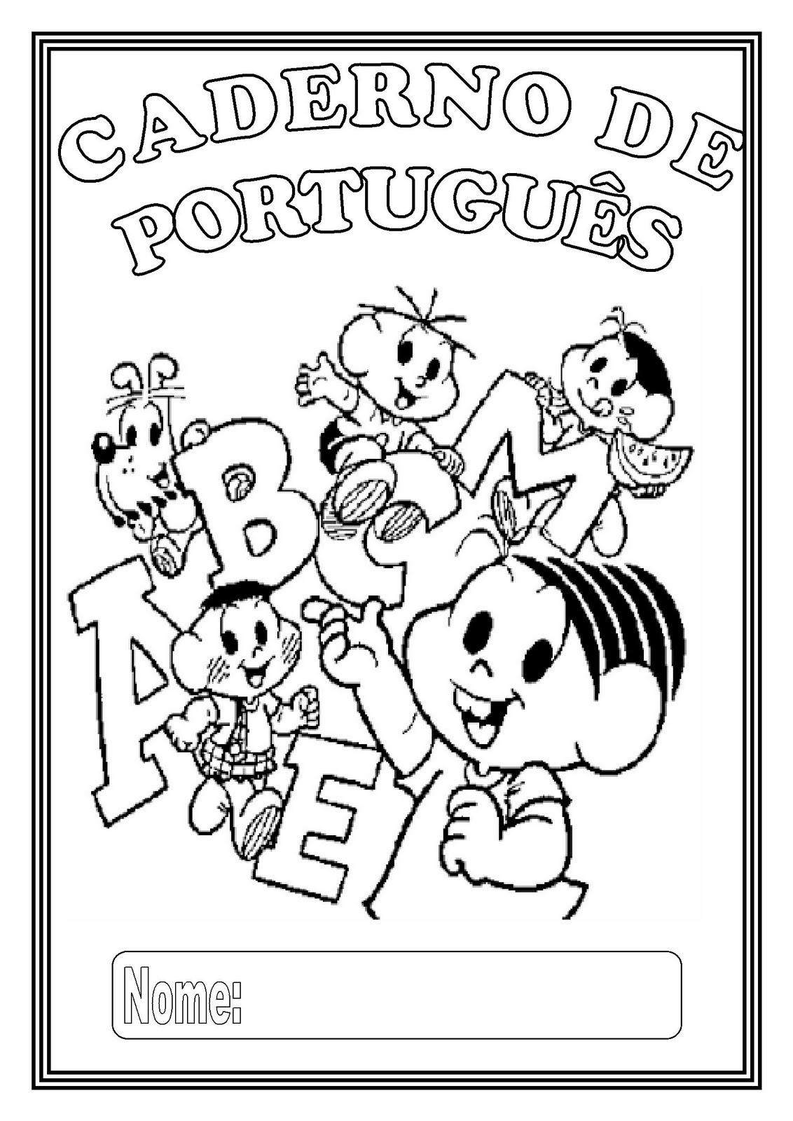 Pedagogas Da Paz Capa Para Caderno De Portugues Capinha Para
