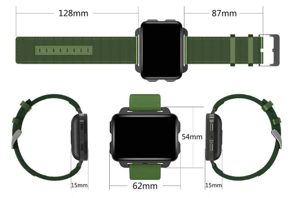 JM Android 5.1 SmartWatch Fiteness Tracker