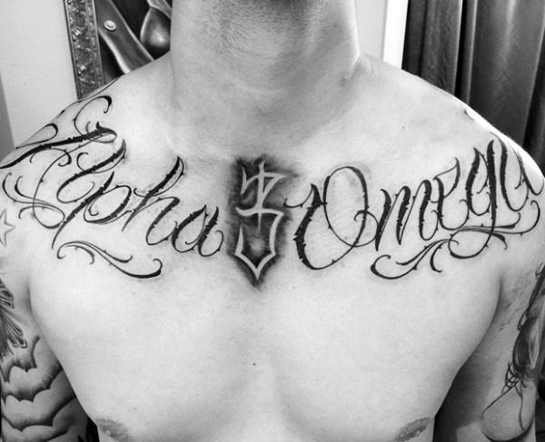 Tatuajes en la clavícula de nombres