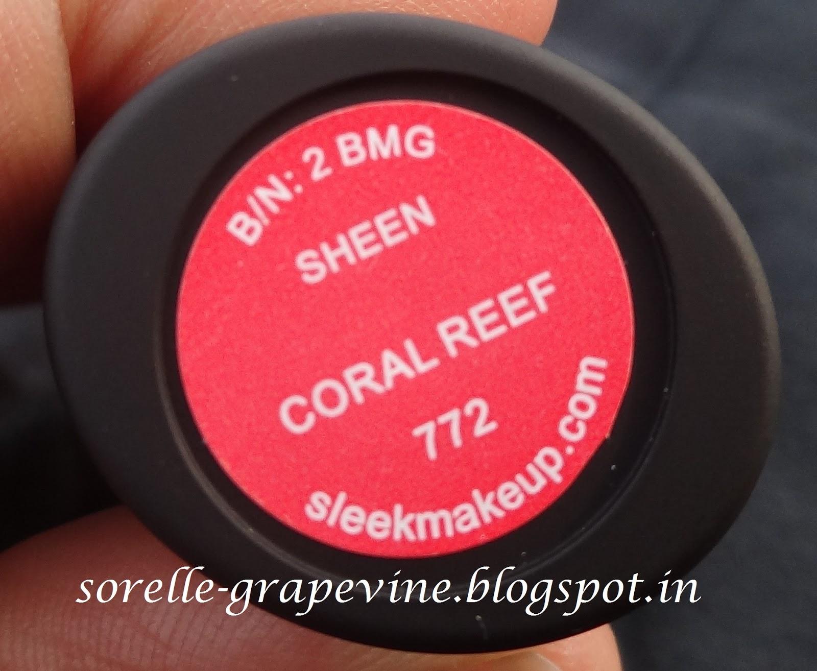 Sorelle GrapevineSleek Makeup True Color Lipstick Coral Reef ...