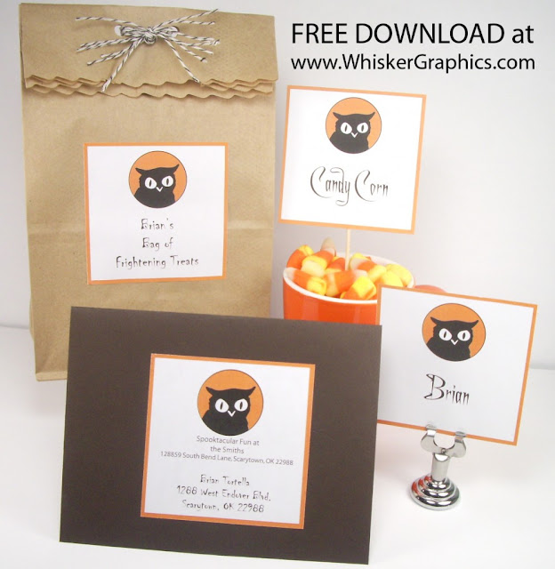 Printable Owl Labels and Invitations.