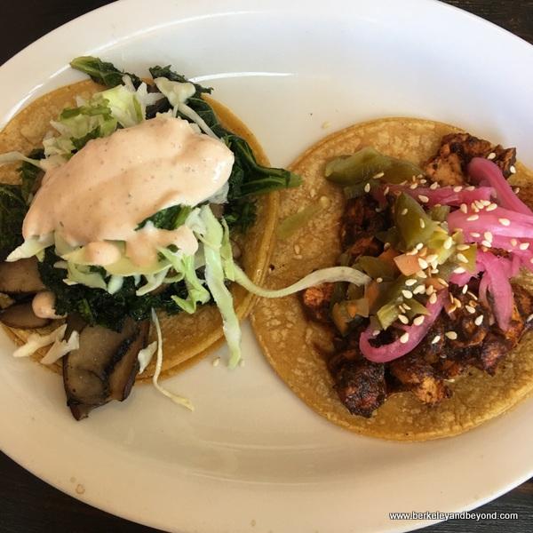 tacos at La Capilla Mercado de Jugos Y Café in Berkeley, California