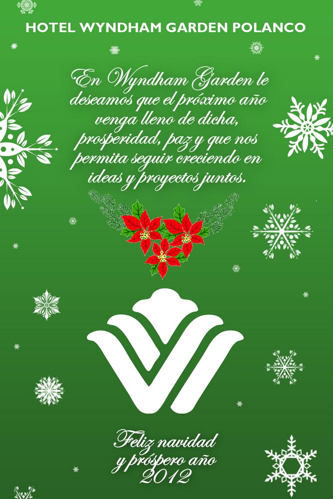 Carta De Felicitaciones De Navidad Y Ano Nuevo.Wyndham Garden Polanco Feliz Navidad Y Prospero Ano Nuevo