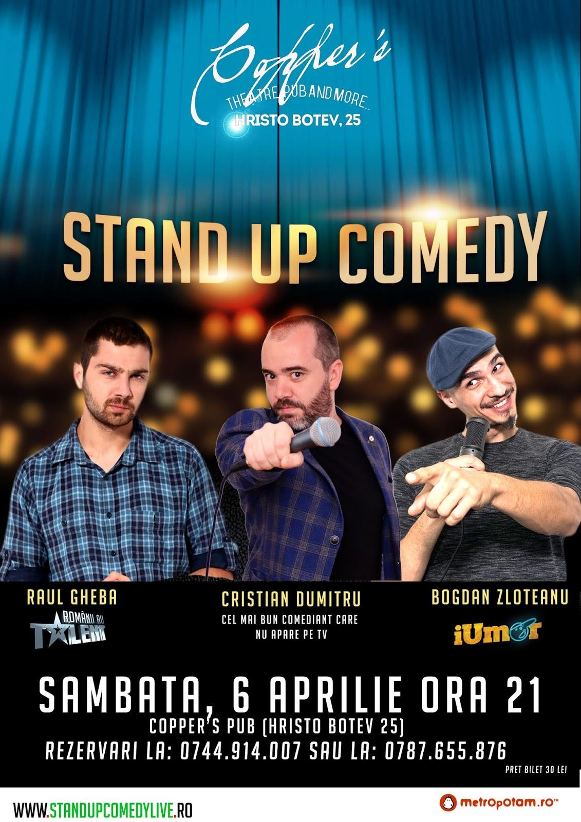 Stand-Up Comedy Sambata in Bucuresti