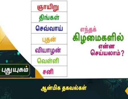 Aanmeega Thagavalkal   Puthuyugam Tv