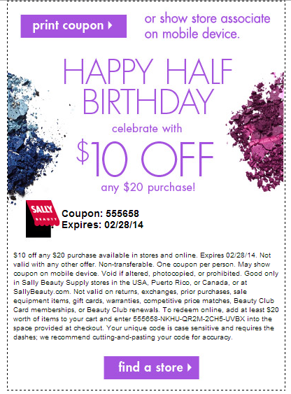 Sally's Beauty Supply: February 2014 Coupon