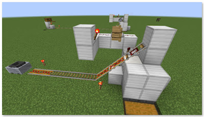 Minecraft 高速トロッコ輸送 アイテム荷降ろし駅 作り方 完成図②