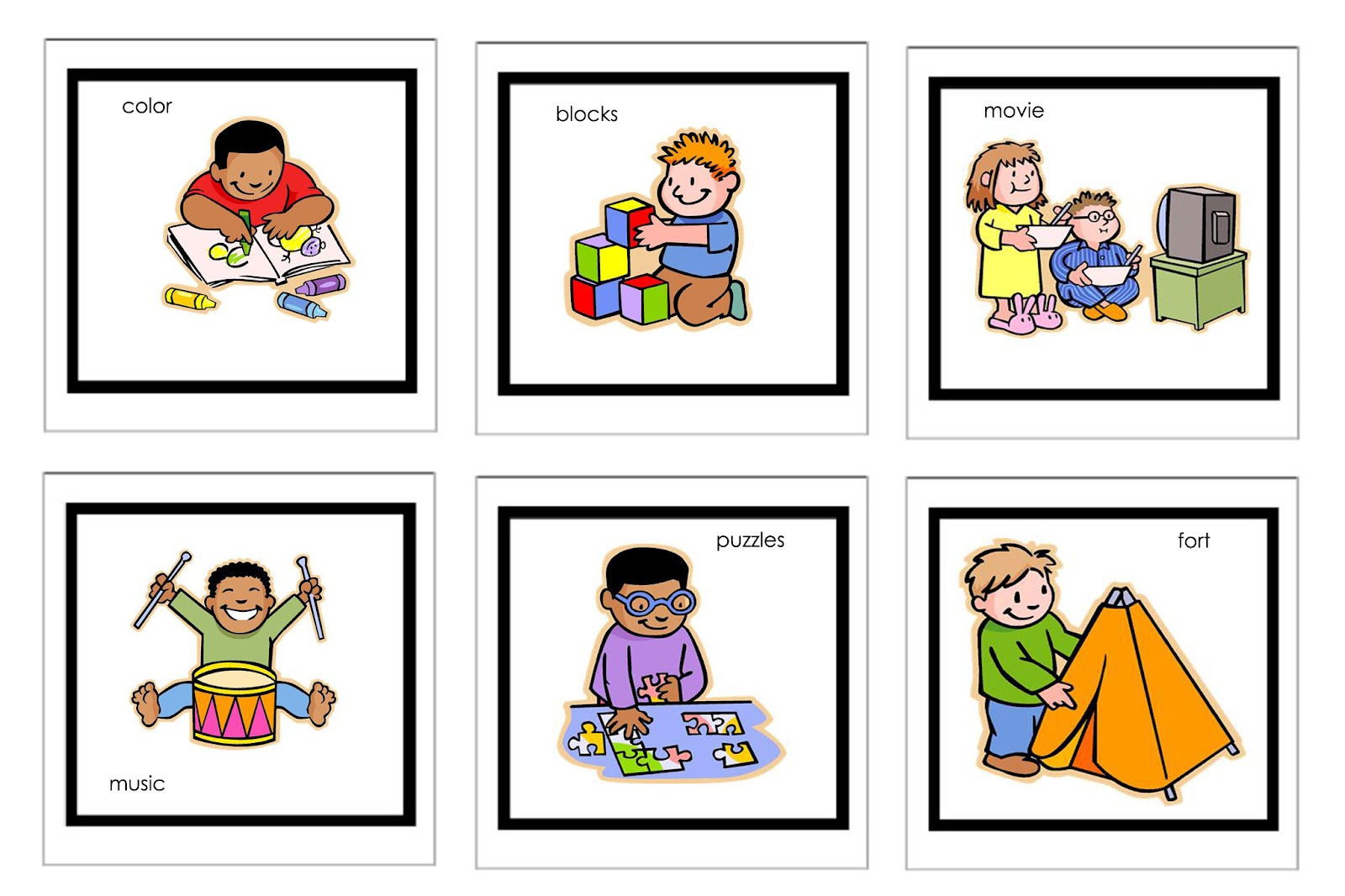 kindergarten schedule clipart - photo #12