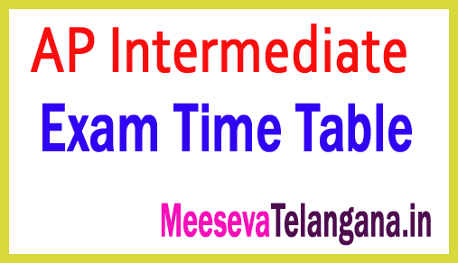 AP Inter 1st 2nd Year Time Table