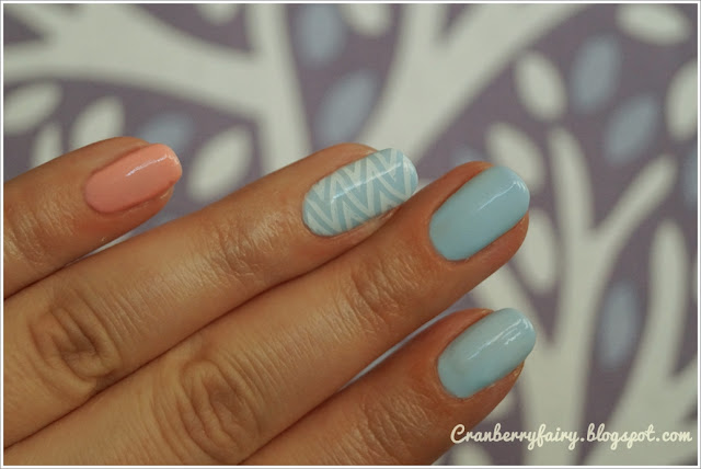 pastelowe zdobienie paznokci