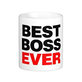 """Best Boss Ever"" on mug"