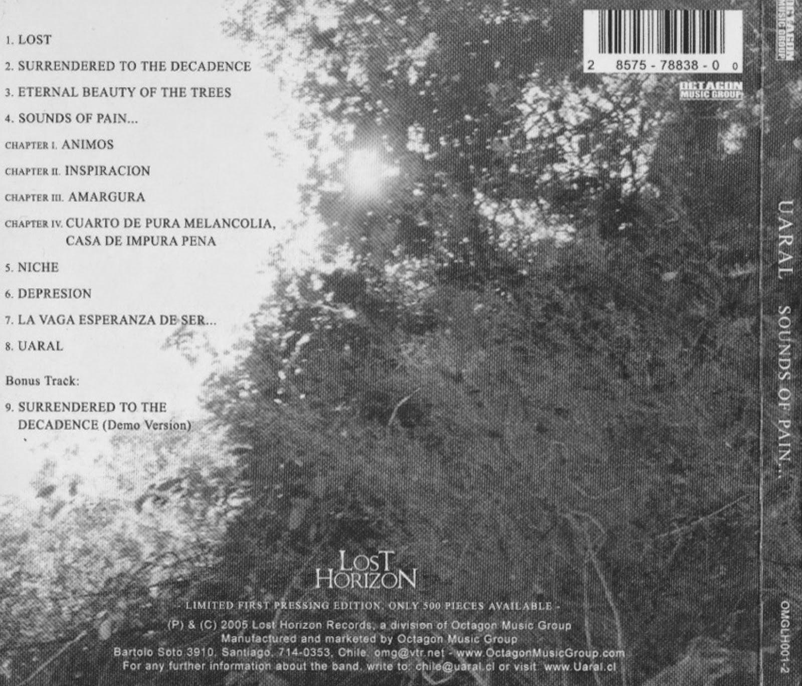 Sinta a Escuridão    Metal Blog: Uaral - Sounds of Pain