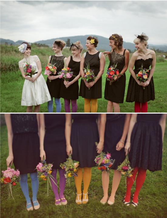 Collant per damigelle colorati, bridesmaids colored tights