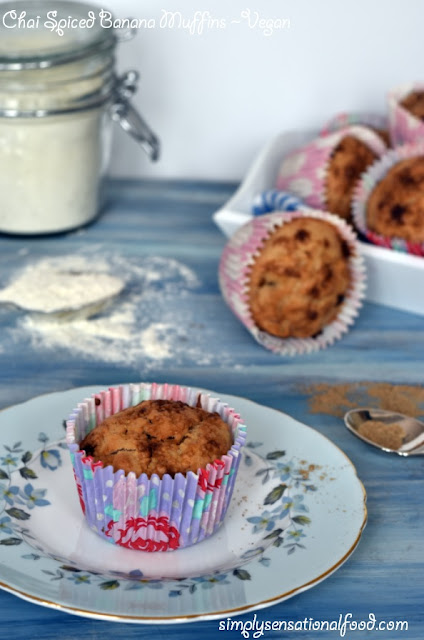 Chai Spiced Banana Muffins and The Vegan Cook book review