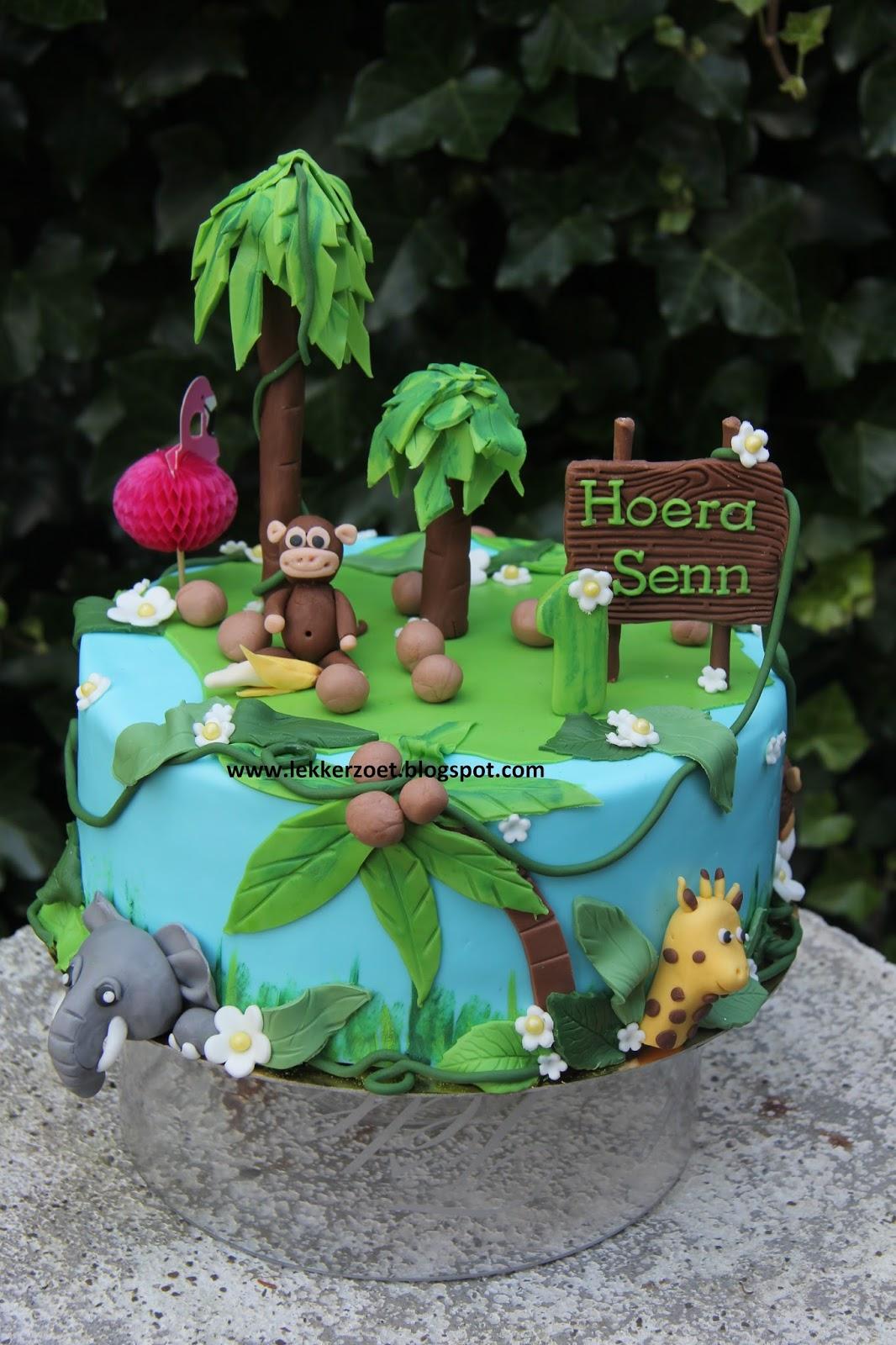 Geliefde lekker zoet: jungle taart voor Senn 1 jaar @OC05
