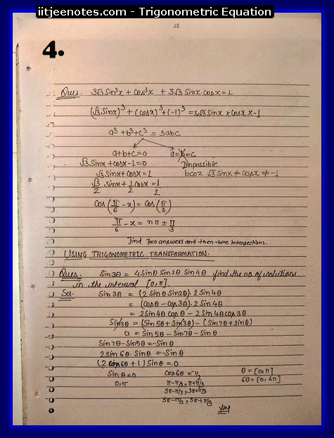 Trigonometric Equation Notes4