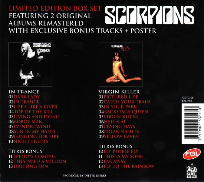 SCORPIONS - In Trance + Virgin Killer [Axe Killer / Bad Reputation remastered +7] back