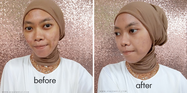 before - after NYX HD Studio Photogenic Foundation