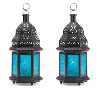 Set of two Morroccan style candle holders