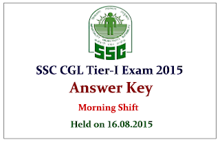 SSC CGL Tier I Exam 2015 Question Paper With Answer Key