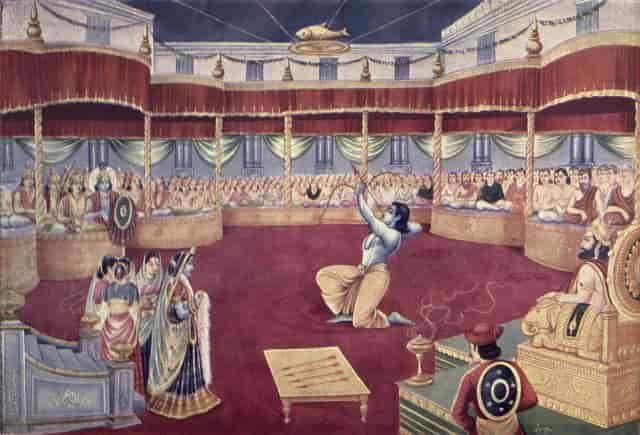 draupadi swayamvar, panchali swayamvar story mahabharata in hindi