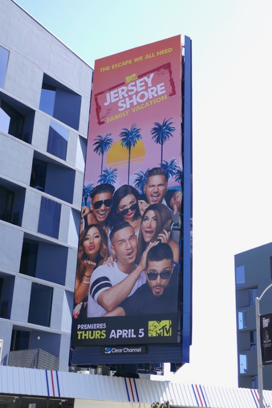 Jersey Shore Family Vacation billboard