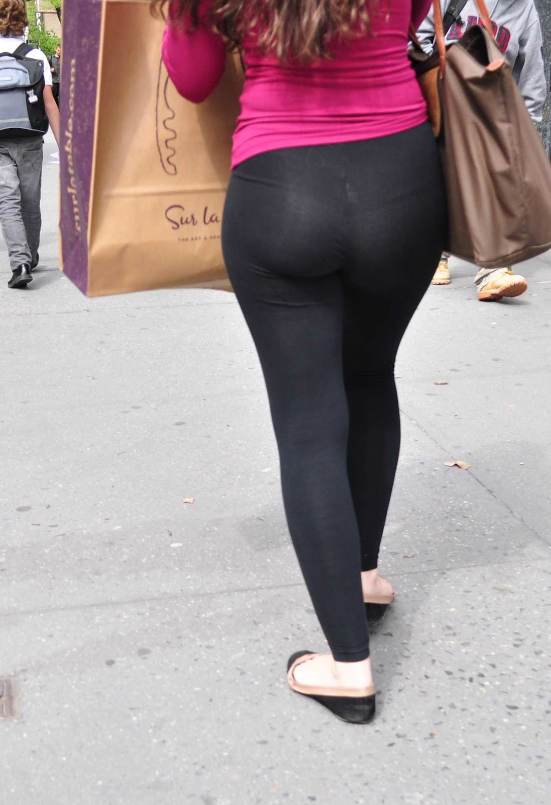 black ass spandex