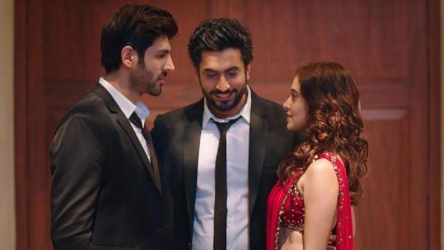 Kartik Aaryan, Sunny Singh, and Nushrat Bharucha in Sonu Ke Tittu Ki Sweety