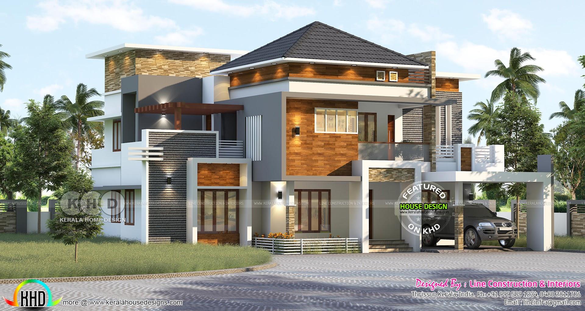 3220 Square Feet 4 Bedroom Stylish Elegant House Kerala