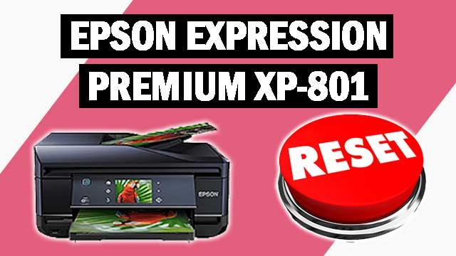 Reset impresora Epson Expression Premium XP-801