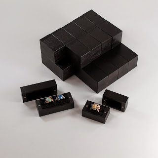 Walnut Ring Boxes stained Black