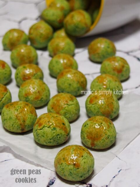 resep green peas cookies