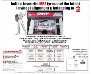 mrf wheel alingnment centres Bangalore