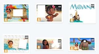 Moldura de fotos em  PNG da Moana