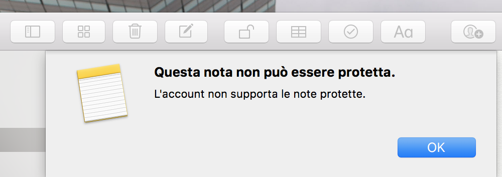 Questa nota non può essere protetta